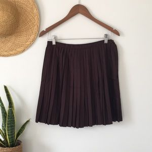 United Colors of Benetton Pleated Brown Skirt Size 44